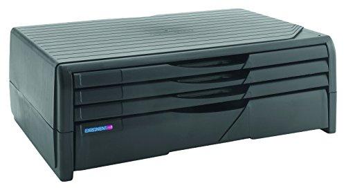 Exponent 44003 Designer Printer Monitor Stand Druckerständer mit 4 Schubladen, schwarz