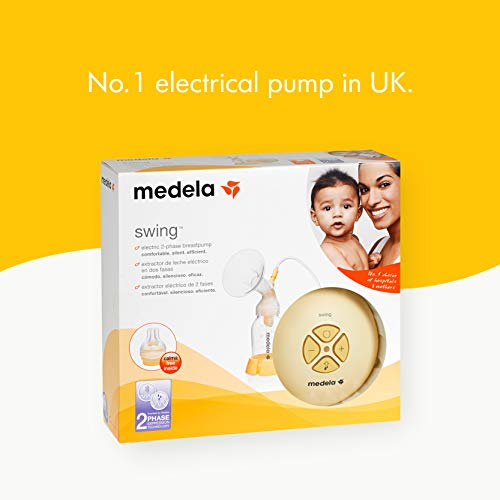 Medela, Swing, Single Electric Breast Pump, Compact and Lightweight Motor, 2-Phase Expression Technology, Convenient AC Adaptor or Battery Power, Single Pumping Kit, Easy to Use Vacuum Control by Medela (Image #3)