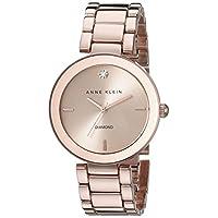 Reloj de pulsera Anne Klein AK /1362RGRG para mujer con detalles en oro rosado y diamantes.