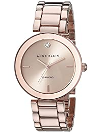 Anne Klein Women's AK-1362RGRG Diamond Dial Watch Rose Gold/Rose Gold