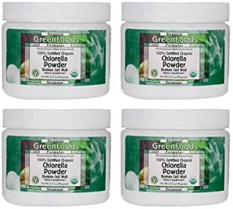 Swanson 100 Certified Organic Chlorella Powder 3.17 Ounce 90 g Pwdr 4 Pack