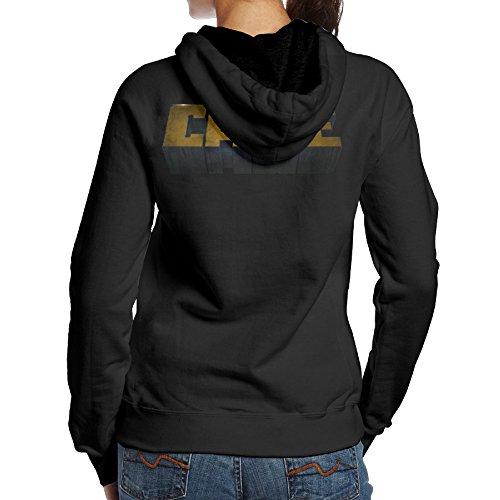 [SBLPT Luke Cage Gym Women's Hoodie S Black] (Jessica Jones Marvel Costume)
