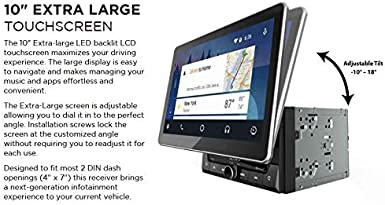 MP4 Video Playback USB Port Bluetooth Jensen CAR68 6.8 inch LED Digital Multimedia Touch Screen Double DIN Car Stereo Apple CarPlay Android Auto Gesture Interface RGB Control Panel