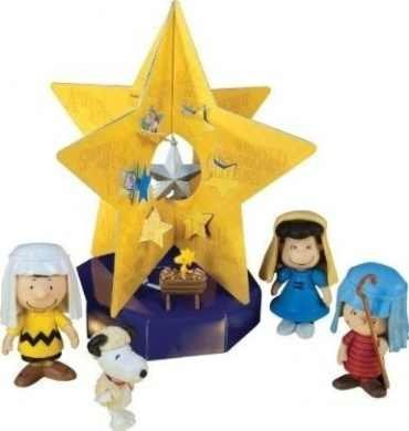 [A Charlie Brown Christmas 5 Figure Pageant Nativity Set with Countdown Star] (Nativity Costumes Set)