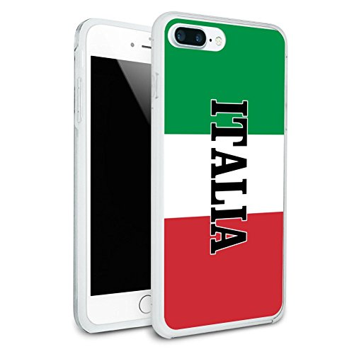 (Italia Italy Italian Flag Protective Slim Fit Hybrid Rubber Bumper Case Fits Apple iPhone 8 Plus)