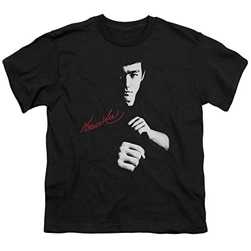 (Bruce Lee Kids Size The Dragon Awaits Youth Black Kung Fu T-Shirt, Toddler Large (7))