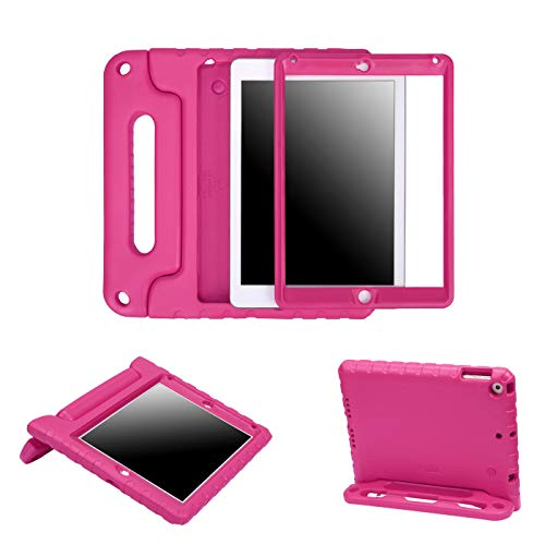 HDE Case for iPad 9.7-inch 2018 / 2017 Kids Shockproof Bumper Hard Cover Handle Stand with Built in Screen Protector for New Apple Education iPad 9.7 Inch (6th Gen) / - For Girls Cases Ipad