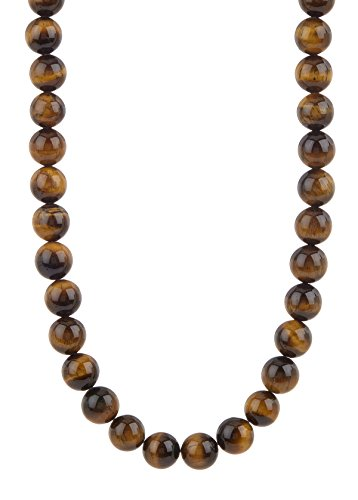 Blackjack Jewelry Natural Gemstone 24 Stainless Steel Bead Necklace – Multiple Color Options Available