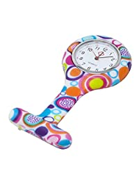 heliltd Reloj médico de Bolsillo de Silicona de 1 Pieza Reloj médico de Bolsillo