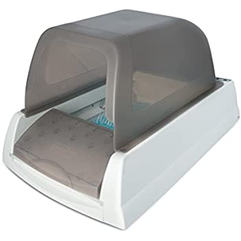 PetSafe ScoopFree Ultra Self-Cleaning Cat Litter Box, Covered, Automatic with Disposable Tray, Taupe