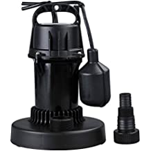 Lanchez Q280110 1/5 HP Multi-Purpose Automatic Thermoplastic Submersible Utility Water Pump With Float Switch for Clean Water