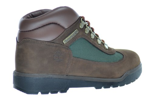 Olive Leather Field Green Timberland And 4 Boots Fabric Big Brown US Kids M 16937 qBEB8S