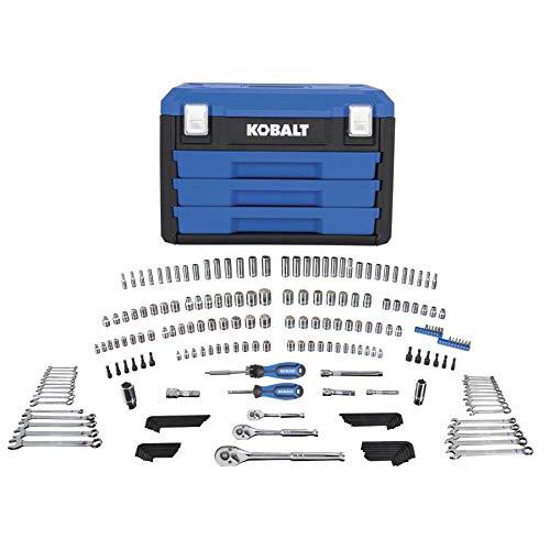 - Kobalt 227-Piece Standard (SAE) and Metric Polished Chrome Mechanic's Tool Set
