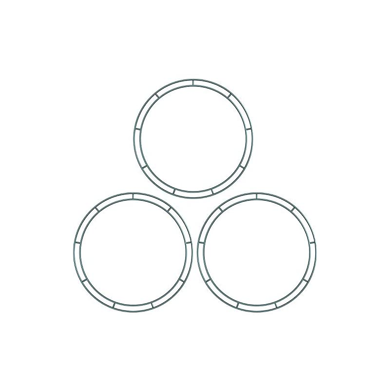 silk flower arrangements sumind 3 packs dark green 12 inches wire wreath rings wire wreath frame for new year valentines decoration (style b)