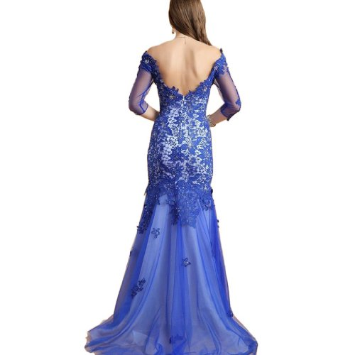 Eyekepper - Vestido - Noche - Sin mangas - para mujer Azul