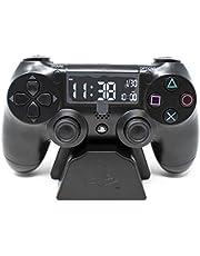 Playstation Digitale wekker met lcd-display, PS4 Dualshock-controller, met de knoppen om de tijd en datum in te stellen