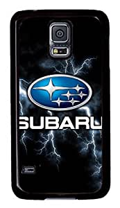 Samsung Galaxy S5 Case, S5 Case - Customized Black Hard Back Case Cover for Samsung Galaxy S5 Subaru Car Logo 3 Top Quality Hard Case for Samsung Galaxy S5 I9600 by ruishername