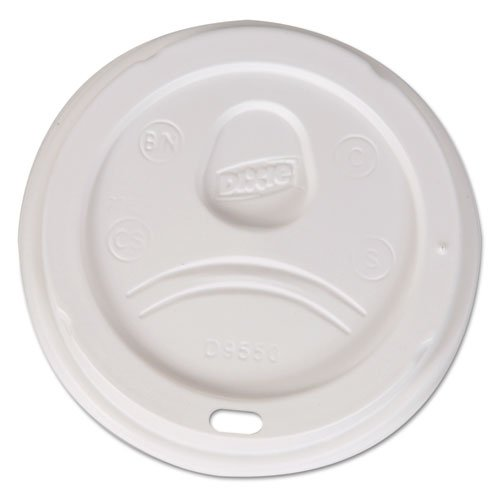 Dixie Sip-Through Dome Hot Drink Lids, Fits 20, 24 oz Cups, White, 1000/Case - Includes ten packs of 100 lids.
