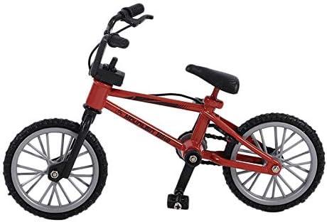 CamKpell Mini tamaño Simulación Aleación Dedo Bicicleta Niños Niño Funnt Mini Dedo Bicicleta de Juguete con Cuerda de Freno cumpleaños - Rojo: Amazon.es: Juguetes y juegos