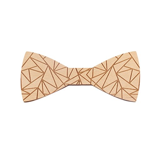 Eleventh Doctor Costume Cheap (Wooden Bow Ties for Men Party Butterfly Bowtie Costume (b))