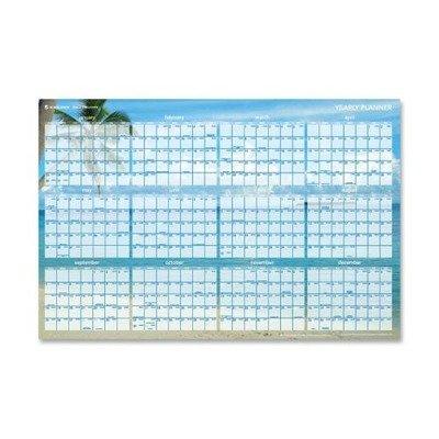 (AAGDMWTEE28 - Visual Organizer Tropical Erasable Wall Planner)