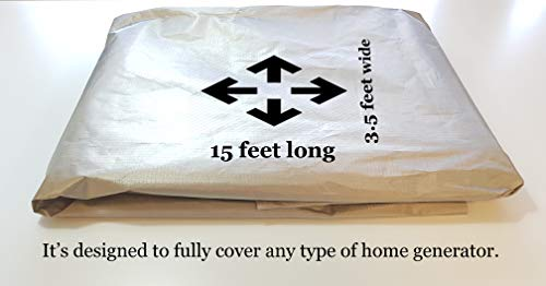 EMP Cloth:180'' by 42.5''.Protect Your Generator Form The Effects of an EMP or CME; RFID Blocking Cloth; EMP Protection Device; EMF Shielding; Power Generator Protection; Military Grade EMP Protection; by Claude Davis (Image #5)