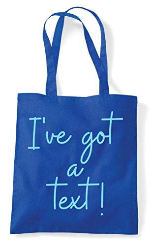 Blue Text Got Statement Hashtag Royal Bag A Quote Shopper I've Tote qvTOO