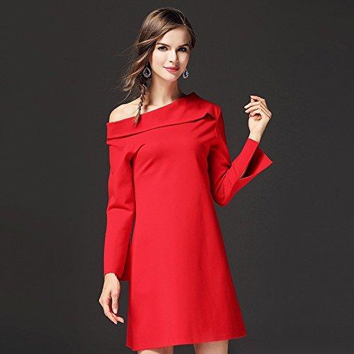 Rojo Mujer Vestido JIALELE Bustier brillante Fiesta Vestido Para Fiesta De Slim Vestido Vestidos Mujer EAZ7qZw