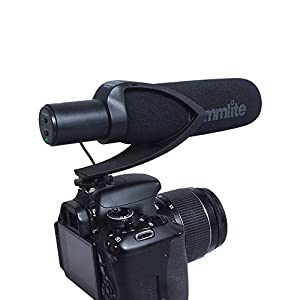 Comica CVM-V30 Shotgun Camera Microphone Super-Cardioid Directional Condenser Photography Interview Lightweight Video Microphone for Nikon DSLR and Fit 3.5mm Port Canon Cameras(Red) from Comica