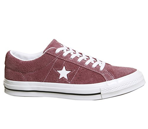 One Fitnessschuhe Erwachsene Lifestyle White OX Suede Converse Star Rot White 625 Deep Unisex Bordeaux FAw0xqt