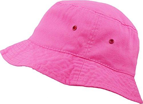KB-BUCKET1 HPK Unisex 100% Washed Cotton Bucket Hat Summer Outdoor Cap KBETHOS