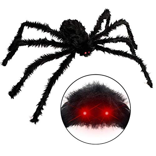 Lightahead Giant Halloween Spider Decorations, 50
