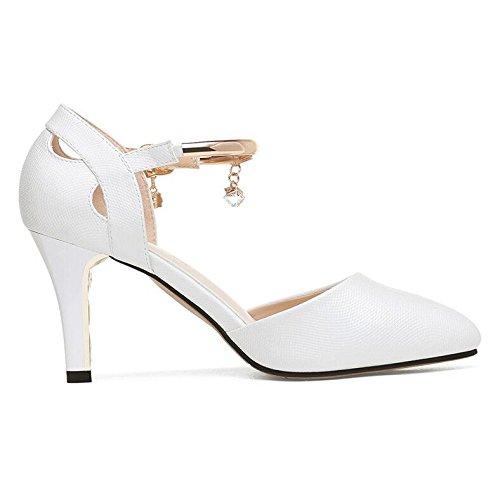 Per Fibbie Cinturino Signore La Vestito Pompe A Nuziale Sandali White Alti Tacchi Scarpe Del Caviglia Alla Spillo Hgdr Donne Festa SBOfww