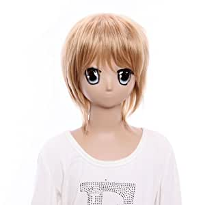 SureWells Golden Swedish Short Wig Lovely Hetalia Straight Cosplay Wigs Costume Wigs