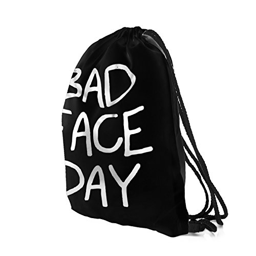 Gym Hipster Backpack Day Sports Face Sack Bags Black Trees Swimming Bad School Cinch Fullprint gwa5HqZH
