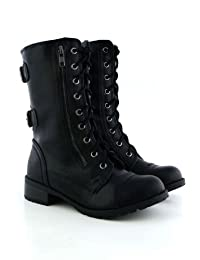 Soda Dome Mid Calf Height Women's Military / Combat Boots