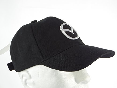 New Mazda Baseball Hat Cap Black Adjustable Velcro Back