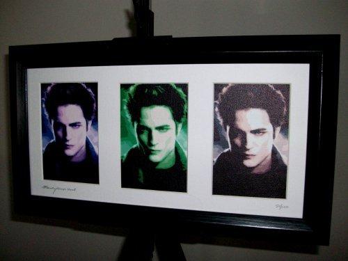 Twilight Edward Cullen Limited Edition Framed Triple Art Prints ()
