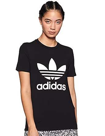 adidas Women's CV9888 Trefoil T-Shirt, Black/White, 36