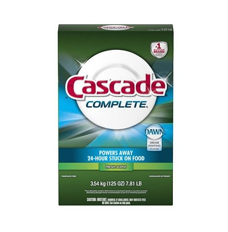 Cascade Complete, Powder Dishwasher Detergent, Fresh Scent 125 Oz