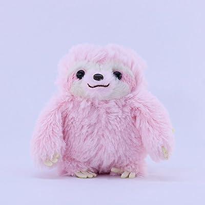 Amuse Sloth Plush Namakemono Mikke Matarri Pink - Sloth Plush Ball Keychain 3.9&Quot; Height - Authentic Kawaii From Japan - Amuse