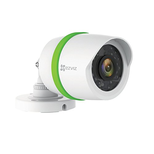 EZVIZ FULL HD 1080p Outdoor Video Security Add-on Bullet Camera, Weatherproof, 100ft Night Vision, Customizable Motion Detection, Included 60ft BNC ()