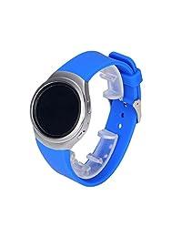 Watch Band, ABC Luxury Silicone Watch Band Strap for Samsung Galaxy Gear S2 SM-R720 (Blue )