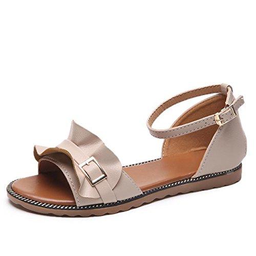 Flops Shoes 819 Sweet Summer Perfues Flats Beach Sandals Casual Comfortable Beige New Women Footwear Lace Flip PwqnxCUfR