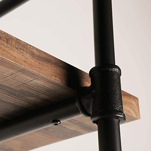 IRONCK Industrial Shelving Pipe Shelf 3-Tier, Planks Included, Rustic Home Decor Wall Decor, Wall Shelves for Bedroom… 4