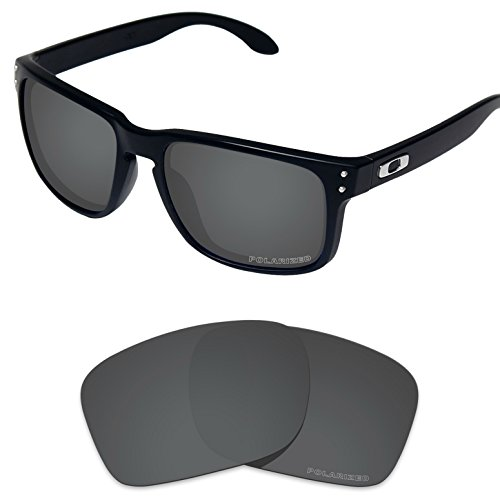 (Tintart Performance Lenses Compatible with Oakley Holbrook Polycarbonate Polarized Etched-Carbon Black)