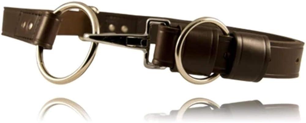"""Boston Leather 6607-1-38 Black Plain Nickel 1-1//4/"""" Off Duty Belt 38/"""" W"""