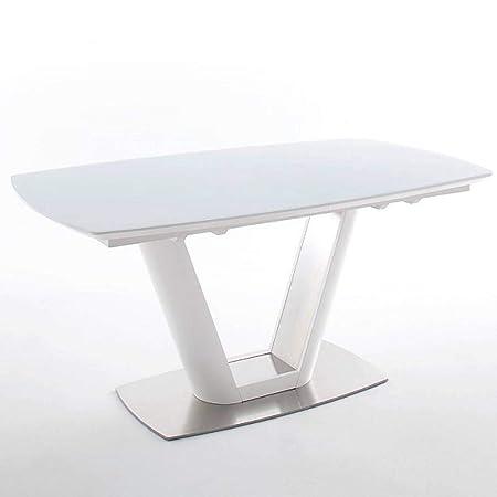 Mesa Comedor Extensible Design Vitali 160 cm Blanca: Amazon.es: Hogar