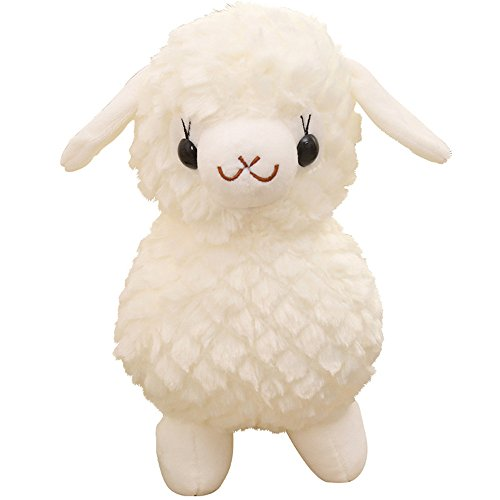 MENILITHS Plush Sheep Stuffed Animal Toys Cuddly Soft Dolls Gifts Home Office Decorations Snow White (Kangaroo Rat Stuffed Animals)
