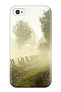 Durable Defender Case For Iphone 4/4s Tpu Cover(landscape Earth)